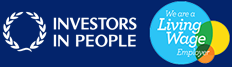Investors in People and Living Wage Employer logos